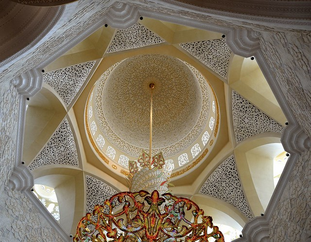 Inside Dome Of Sheikh Zayed Grand Mosque Abu Dhabi