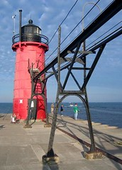 Lighthouse in South Haven,MI
