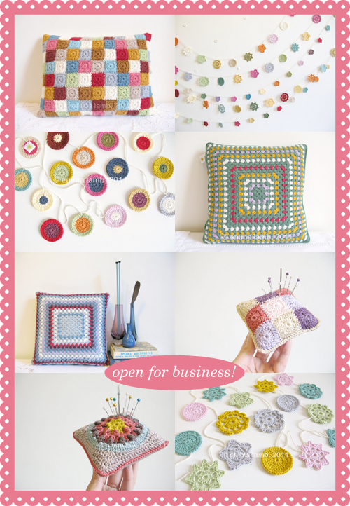 Emma Lamb, Etsy and Folksy shops are now open for business in 2012