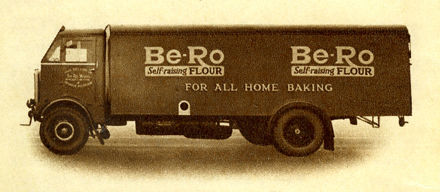 "AEC Matador van Be-Ro Self-raising Flour from my mums 1940s ""Be-Ro Home Recipes"" cook book"