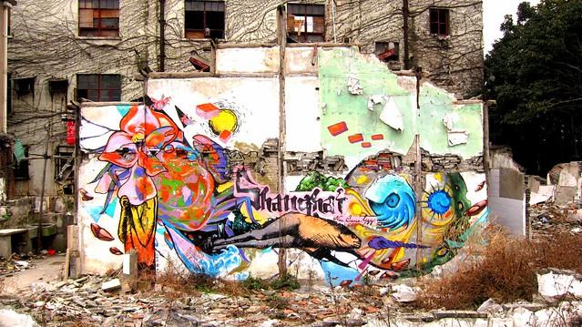 graffiti shangai moganshan viertel 2012 - künstler unbekannt