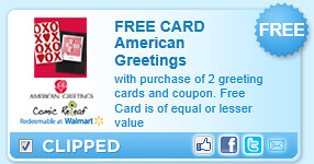 With Purchase Of 2 Greeting Cards And Coupon. Free Card Is Of Equal Or Lesser Value Coupon