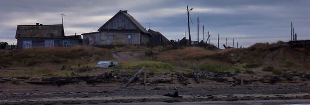 Wooden villages on Sakhalin's west coast