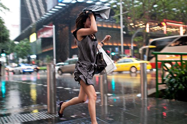 rain shot in Orchard Road