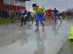 Pieter van Kruistum tijdens de clubkampioenschappen Marathon in Apeldoorn