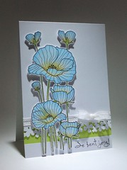 Linda workshop Blue Poppies