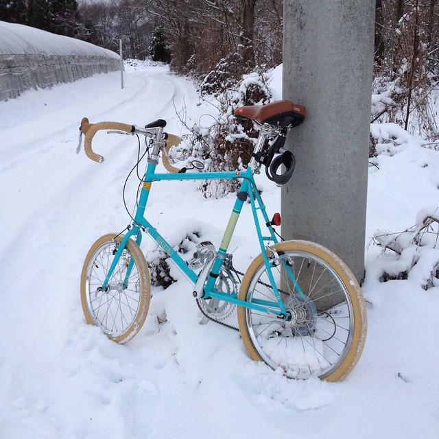BRUNOで雪道走ってみた