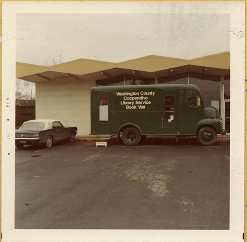 "The book van aka ""the green machine"" at SW 107th Avenue location"