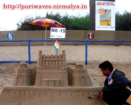 Sand Art 63rd Republic Day at Konark Chandrabhaga