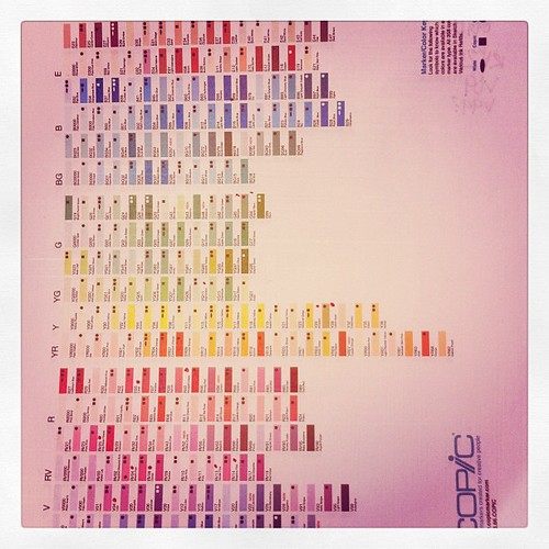 Copic marker color key...I want all of them :) trying to decide which to get #janphotoaday #day26 #color