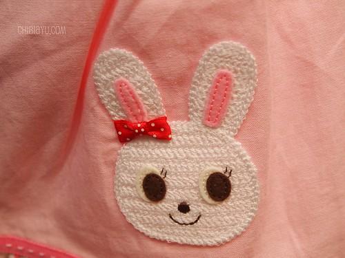 ミキハウスの子供服 ワンピース うさこ刺繍