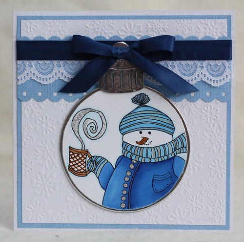 Snowman Bauble Card