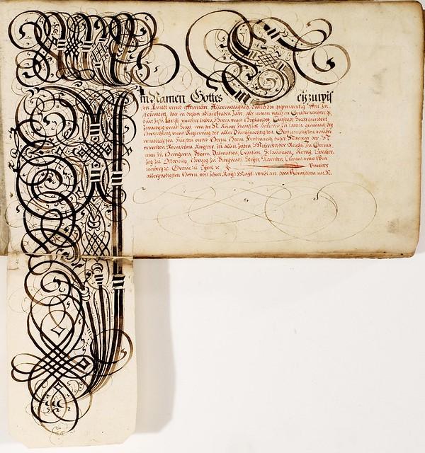 Kalligraphische Schriftvorlagen by Johann Hering o
