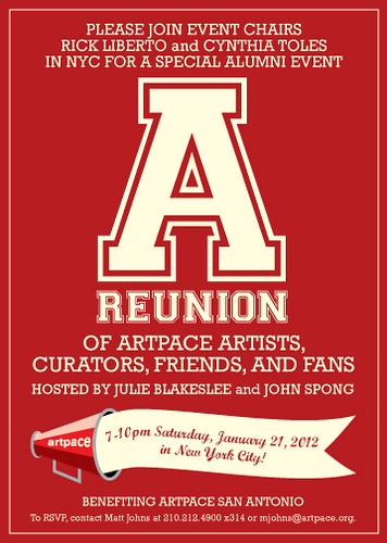 Artpace Reunion invite