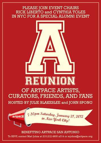 Artpace Reunion invite