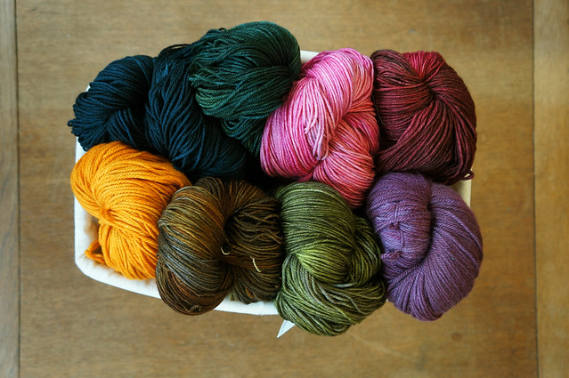 A basket full of Malabrigo Arroyo