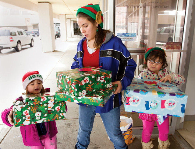 Every holiday season, employees of Los Alamos National Laboratory donate and distribute gifts to families in need throughout Northern New Mexico.