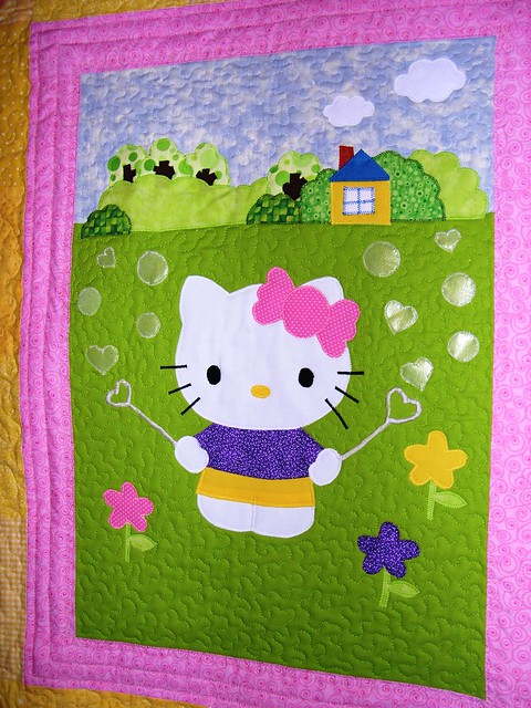 Hello Kitty Wallhanging Close-up