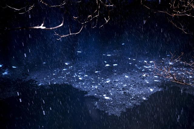 galactic snow falls
