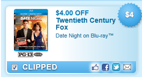 Date Night On Blu-ray Coupon