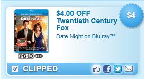Date Night On Blu-ray Coupon