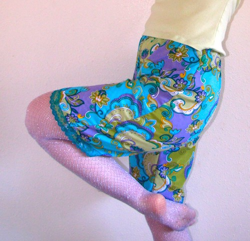 turquoise paisley pettipants
