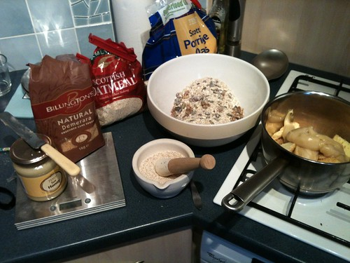 Protein flapjack ingredients 1