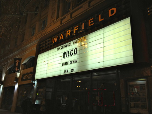 Warfield marquee, Wilco