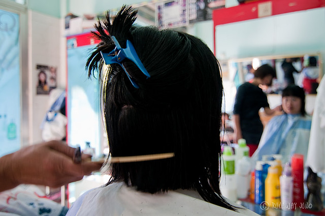 Getting a haircut in China