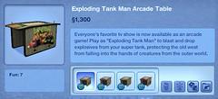 Exploding Tank Man Arcade Table