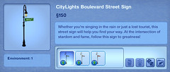 CityLights Boulevard Street Sign
