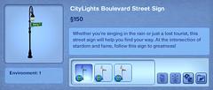 CityLights Boulevard Street Sign