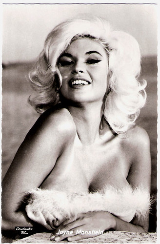 European film star postcards happy birthday sabrina for How old was jayne mansfield when she died