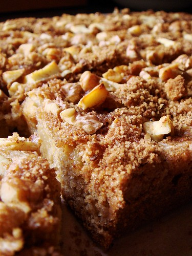 Apple Rye Blondie with Cream Cheese & Walnut: Up Close