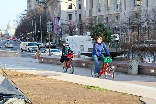 tourist on bikeshare bikes