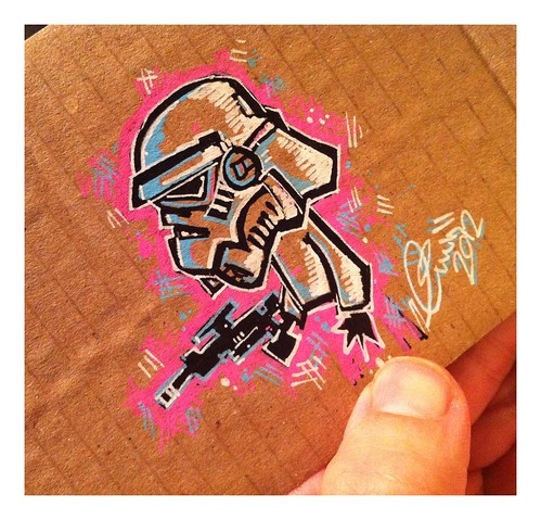Cardboard scribble by [rich]
