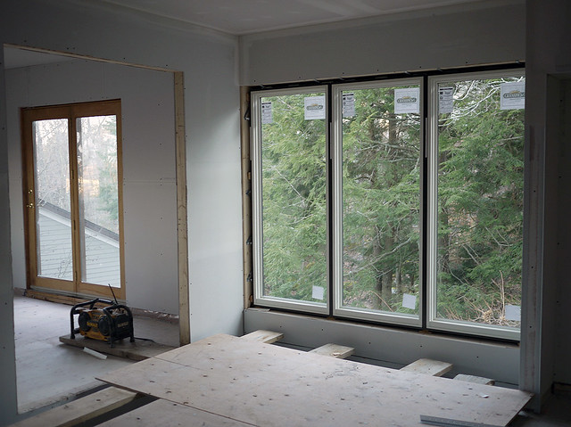 large window view to tv room