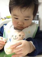 今朝のおにぎりとらちゃん(2012/2/8)