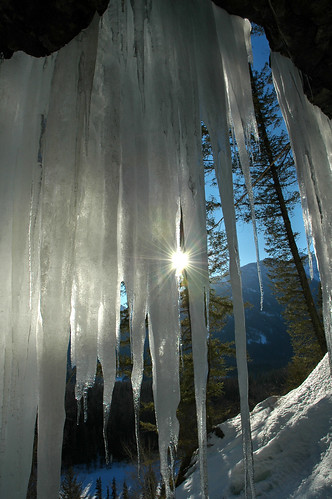 winter sunset mountain canada mountains ice outdoors frozen waterfall bc britishcolumbia icicles kootenay eastkootenays