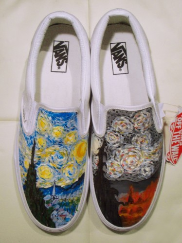 custom shoes with Van Gogh