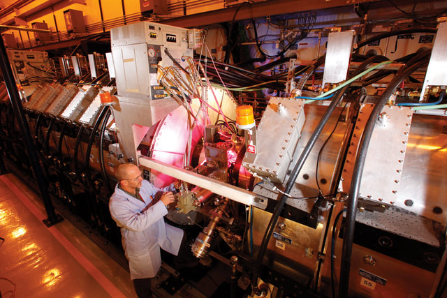 Scientists use DARHT to study key aspects of nuclear weapons physics.