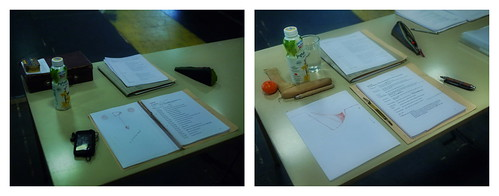 "At Work 31.3.2014: In the Morning / At Midday - Rehearsal ""Die letzten Tage der Menschheit"" (Karl Kraus) - Sanguine and Sepia"