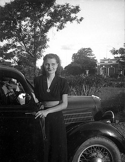 A pretty lady and a Ford.
