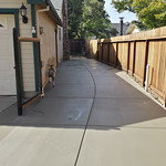 Large Side Yard Concrete In Vacaville