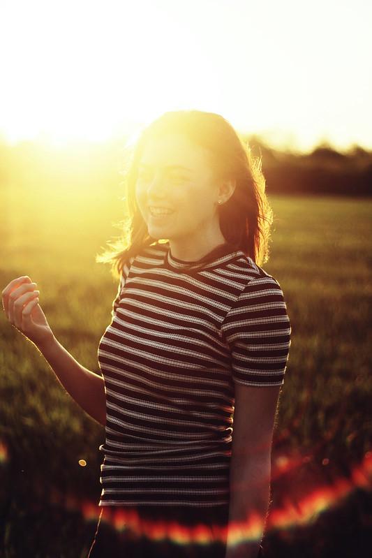Fotografie Mädchen Sonne