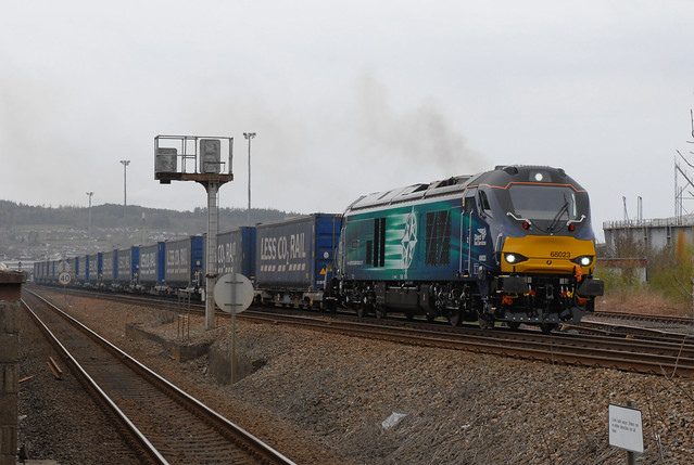 DRS 68023 'Achilles' 4D47 Inverness to Mossend/Moy