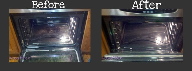 Oven before and after