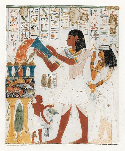 007-Un sacrificio a los dioses-The tomb of two sculptors at Thebes  1925- Norman de Garis Davies- Universität Heidelberg