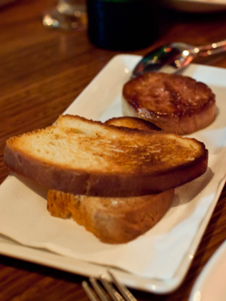 Steer - Pan fried foie grais with toasted brioche $39