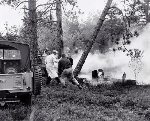 Brush Fire Jeep CJ-3A in Action by lee.ekstrom